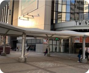町田東急ツインズの向かって左の建物の付近