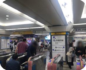 小田急線町田駅西口改札付近