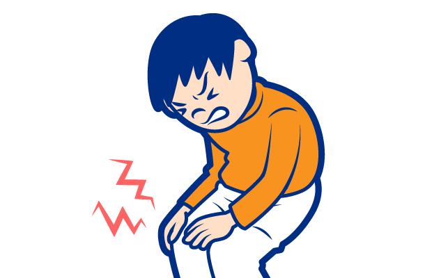 痛風の症状:膝関節