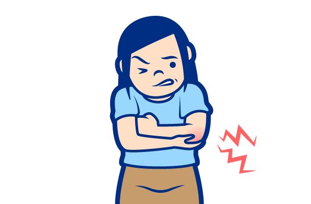 痛風の症状:手関節