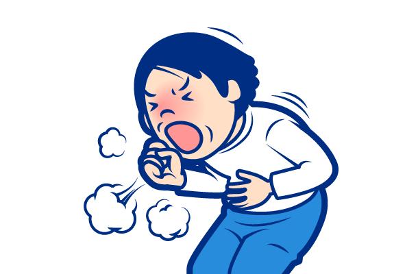 喘息の症状:夜間や早朝に生じる咳