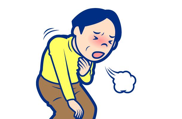 喘息の症状:息苦しさ